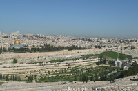 オリーブ山から見たエルサレム旧市街