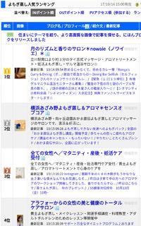 にほんブログ村さんの『よもぎ蒸し』部門のランキングで1位獲得☆
