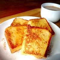 厚切りパンの豆乳フレンチトーストと