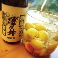 澤乃井(原酒)で自家製梅酒♪