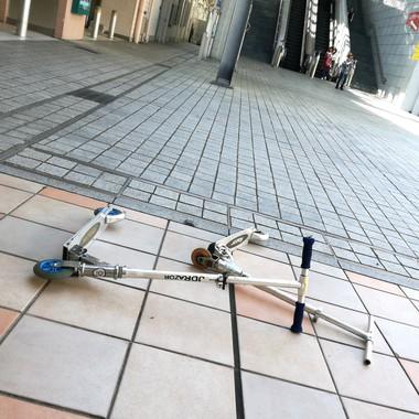 京王リトナード若葉台フリーマーケットにご来店の子供ちゃんのキックスケーター