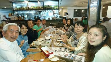 由栗カフェに妻と二人で参加していました。