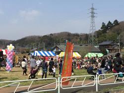 堀之内里山での竹たま祭り