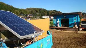 電源は太陽光発電でレジを使っていました。