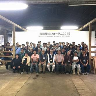 21日はユギムラ牧場に三重県からの青年里山フォーラム、