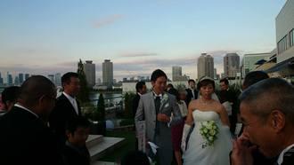 20日はお台場で甥の結婚式、