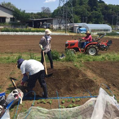 デイの利用者と畑仕事をする計画