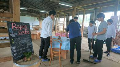 帝京大学教育学部の森ゼミの模擬カフェ
