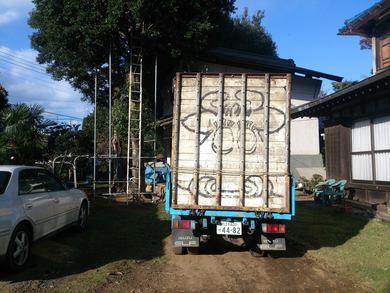 牛を運ぶトラックの枠を 作っていましたね。
