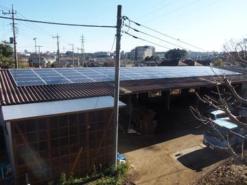 約1年かけてうちの堆肥舎の屋根に