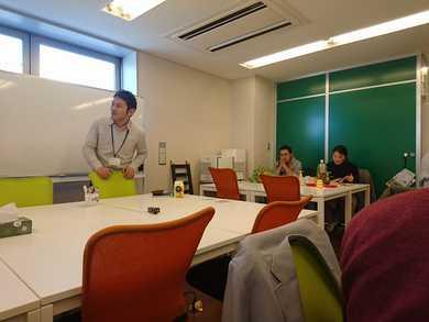 事業所の職員さんのスキルアップの 研修会に参加していました。