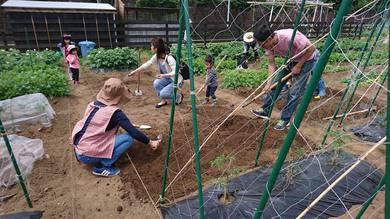 子供たちも安全なあそび場兼畑としてやっていきます。