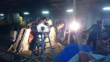東京薬科大学祭ギリギリの脱穀作業