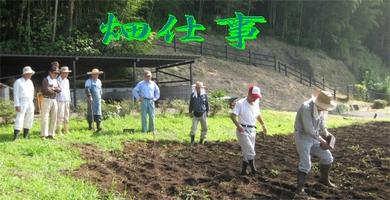 堀之内寺沢里山公園の農作業