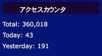 ブログアクセス数 36万を突破