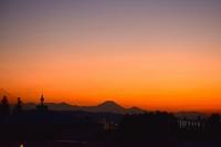 富士山・夕焼け・三日月 コラボ