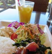 多摩川の見えるところでハワイアン料理