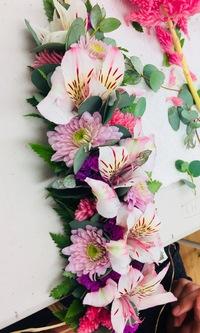お花のレッスン レイメイキング教室でした