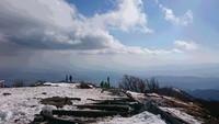 丹沢 鍋割山から塔ノ岳を縦走しました。2018年2月。