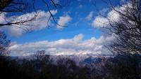 雪の三頭山を歩きました。2018年2月。