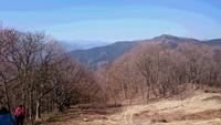 陣馬山一ノ尾根を歩きました。2018年3月。