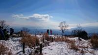 丹沢 鍋割山から塔ノ岳を縦走しました。2017年1月。