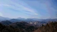 藤野駅から日連アルプスを歩きました。2017年3月。