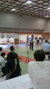 IBMA極真会館空手道大会の救護活動をしています