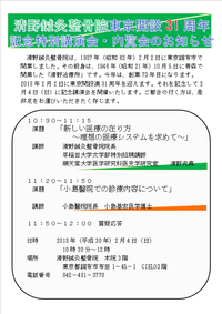 清野鍼灸整骨院東京開設31年記念講演会 2018/01/30 11:42:37