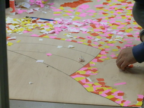 星槎国際高校立川学習センターの文化祭準備