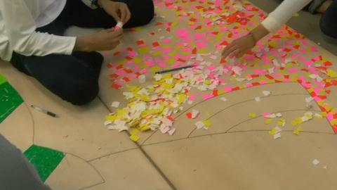 星槎国際高校立川学習センターの文化祭準備2