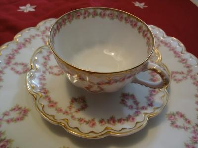 アンティークリモージュのカップ&ソーサー