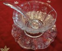 アメリカ製エレガントガラス フォストリア マヨネーズセット