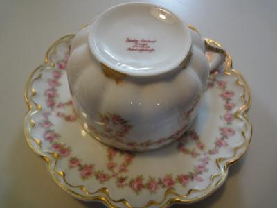 リモージュカップ&ソーサー ローズループ