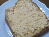 焼き立てパンでオープン卵サンド♪~話し合ったよ~