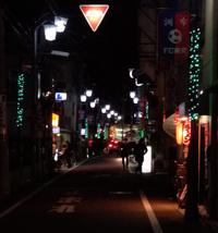 街路灯にイルミネーションが点きました