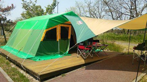 海辺の森キャンプ場常設テント