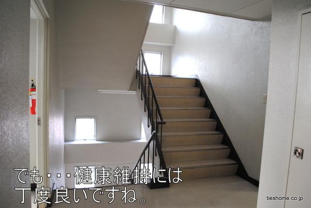 橋完ビル階段