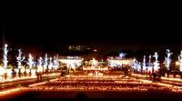 昭和記念公園☆イルミネーション「輝く城」1