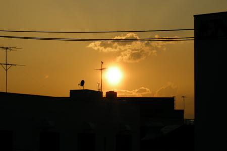 2008年4月14日夕焼け1