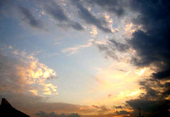 ホームビデオ記念日の夕焼け