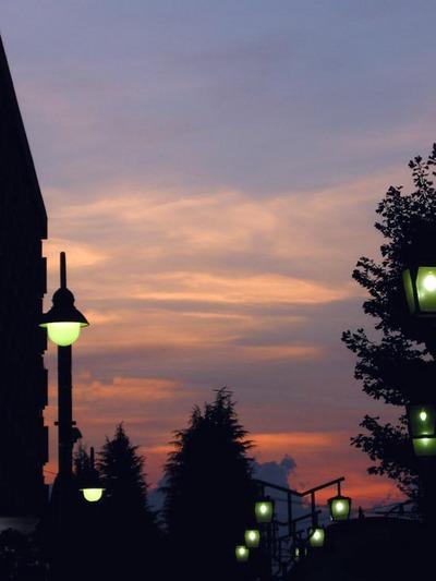 東中神の夕焼け