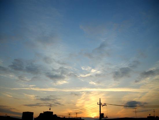 3月1日の夕焼け