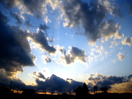 3月10日の夕焼け