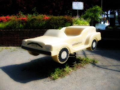 公園のアメ車