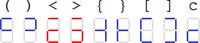 ASCII-7セグメント対応
