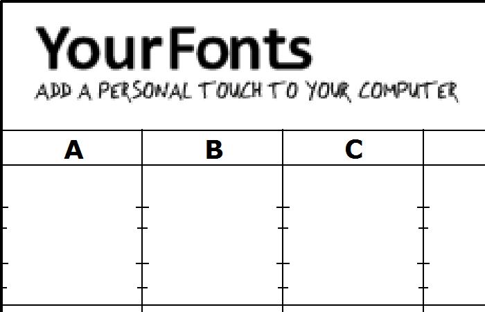 Your Fonts テンプレート