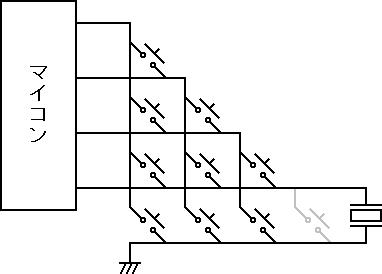 9キー入力+圧電スピーカー出力