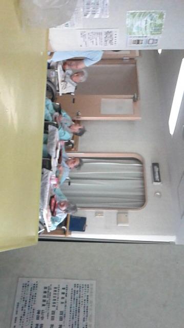 青葉病院内の介護施設にて昼食頃の風景