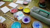 6年生の日本画体験授業